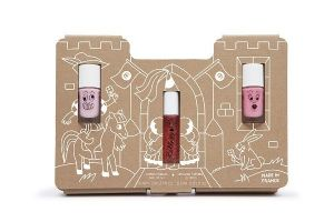 Princess Castle Gift Set - nailmatic® kids - Set of 2 water based nail polish and 1 Rollette lipgloss